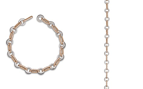 Bloomingdale's Diamond Circle Link Bracelet in 14K Rose and White Gold, 1.35 ct. t.w. _2